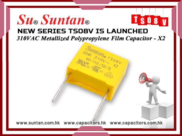Новая серия конденсаторов Suntan TS08V